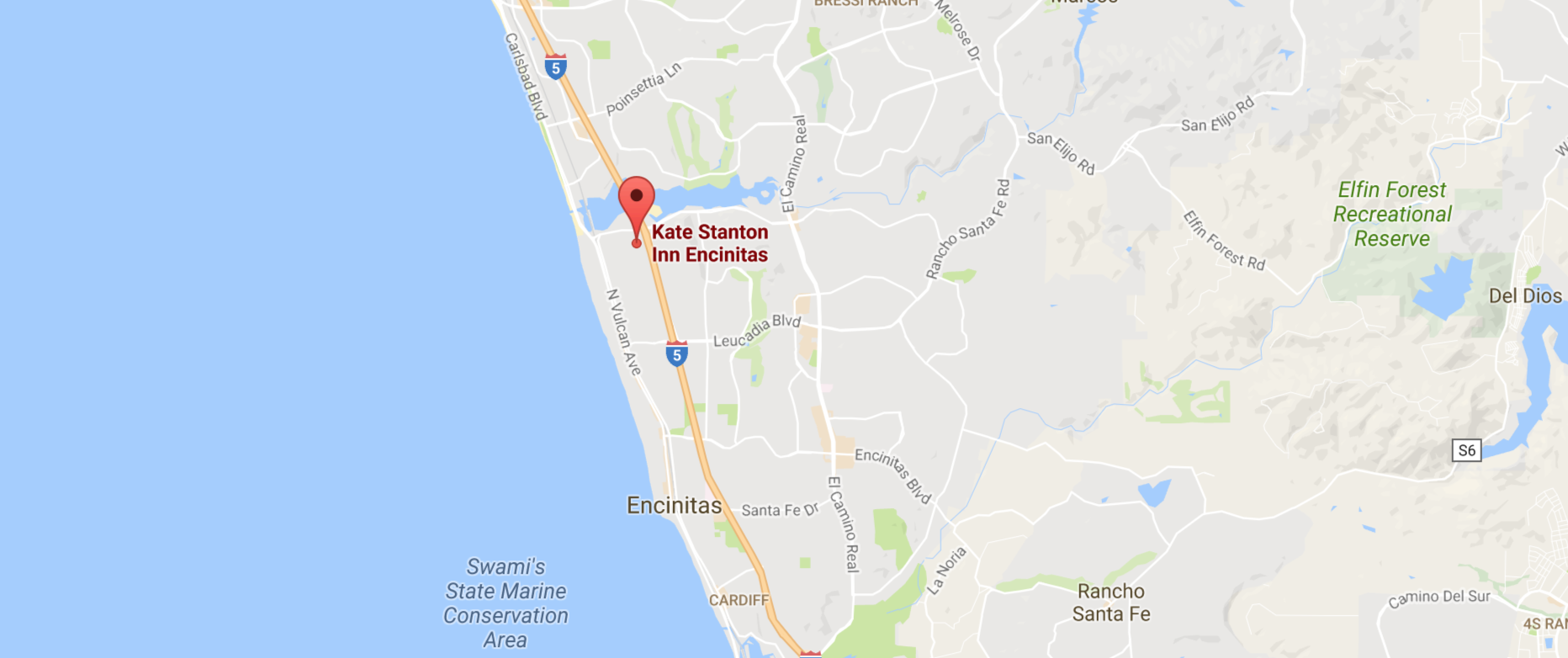 Map - Kate Stanton Bed and Breakfast, San Diego Area