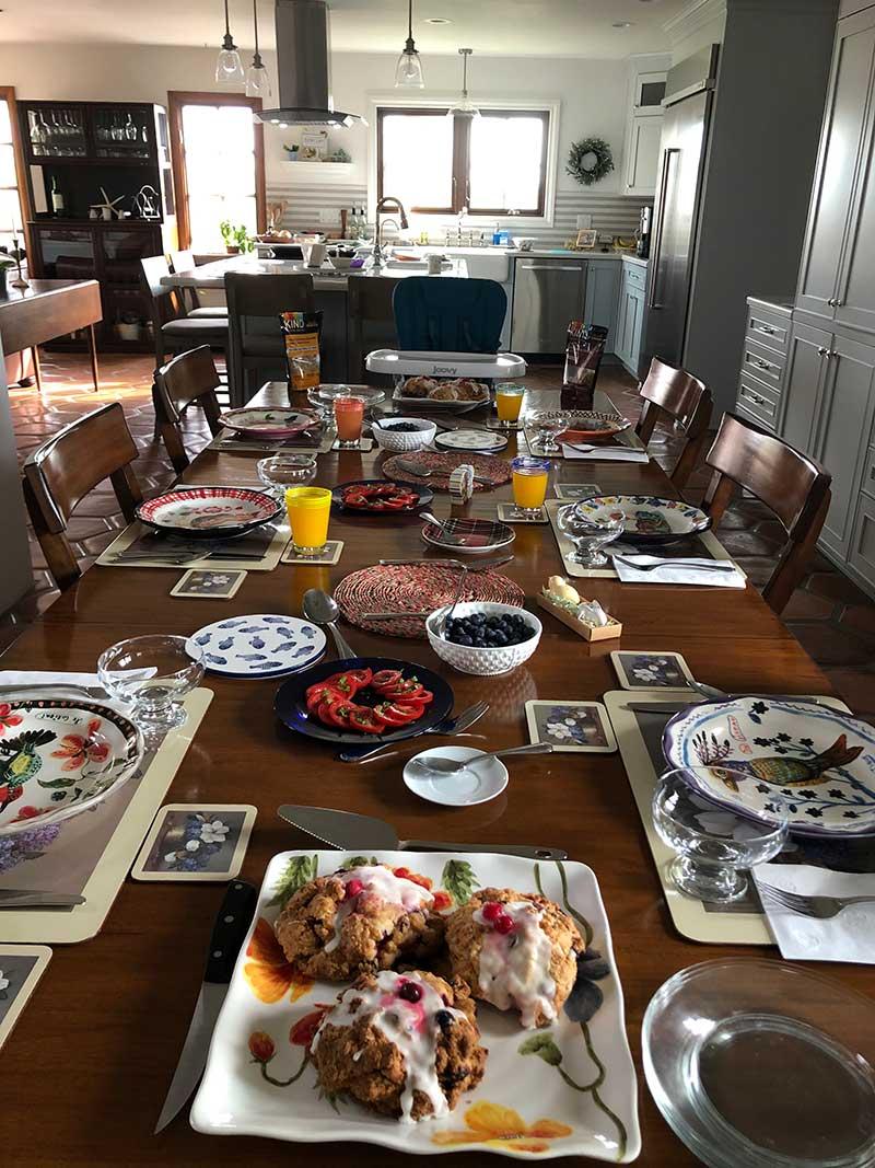 Breakfast Table - Kate Stanton BB Encinitas, CA
