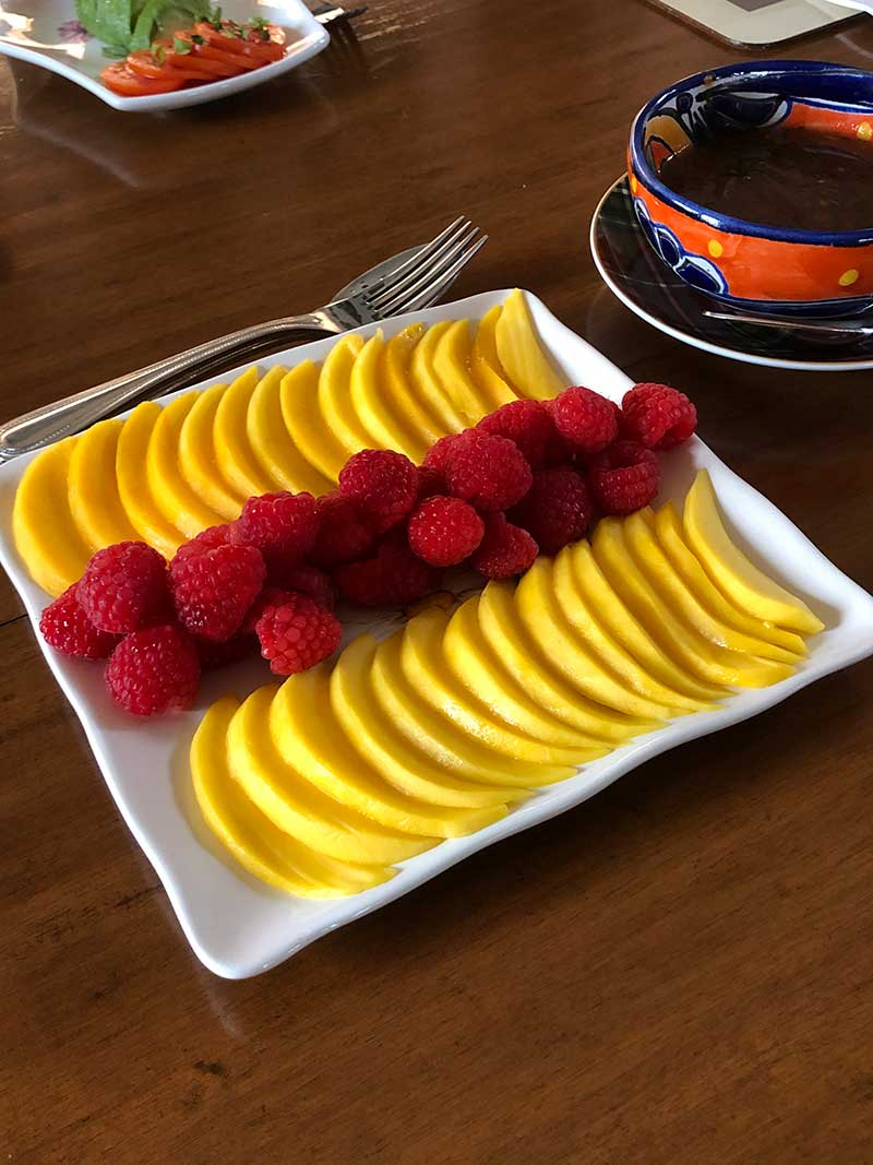 Breakfast Peach and Berries - Kate Stanton BB Encinitas, CA